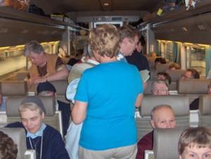 hotelbedevaarders-HST-in de trein wp